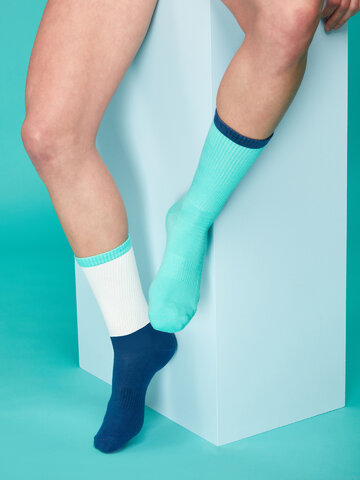 Geschenk von Dedoles Weiße und Blaue Sportsocken