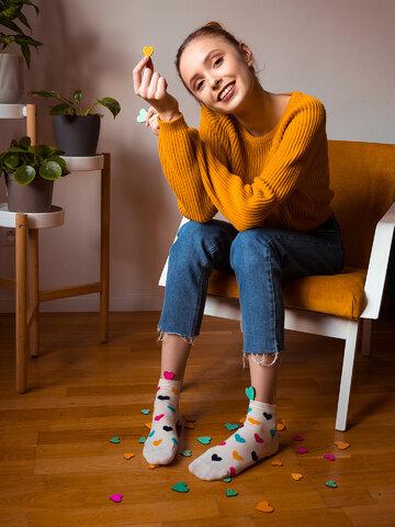 für ein vollkommenes und originelles Outfit Lustige Knöchelsocken Bunte Herzen
