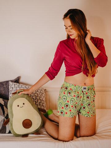 Foto Lustige Shorts für Frauen Avocado-Liebe