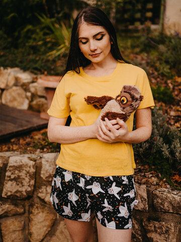 Lifestyle fotó Vidám női alsónadrág Baglyok