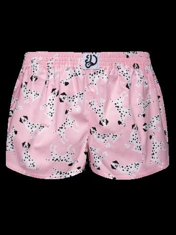 Tip na darček Veselé dámske trenky Ružové dalmatínce