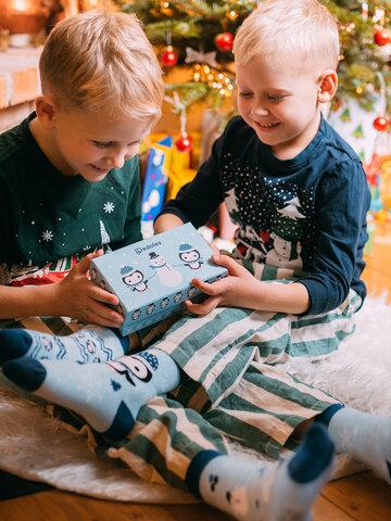 Indicație pentru cadou Cutie Cadou de Iarnă pentru Copii Pinguin & Om de Zăpadă