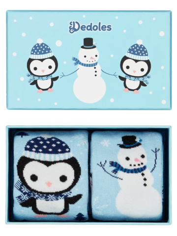 pentru outfit-ul perfect Cutie Cadou de Iarnă pentru Copii Pinguin & Om de Zăpadă