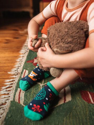 Výprodej Veselé dětské kotníkové ponožky Rezavá liška