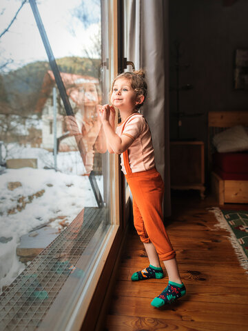 Sleva Veselé dětské kotníkové ponožky Rezavá liška