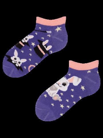 pro dokonalý a originální outfit Veselé dětské kotníkové ponožky Kouzelný zajíček