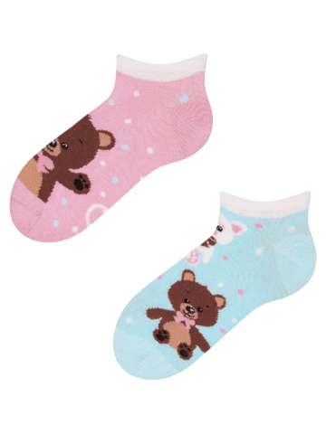 Hľadáte originálny a nezvyčajný darček? Obdarovaného zaručene prekvapí Veselé detské členkové ponožky Medvedík