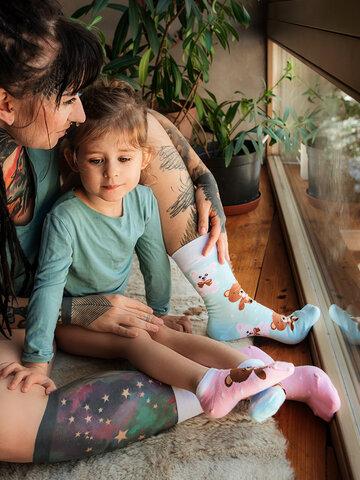 Výnimočný darček od Dedoles Veselé detské členkové ponožky Medvedík