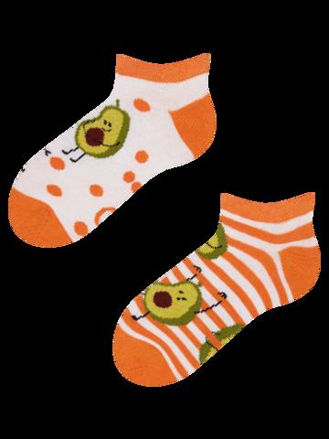 Lifestyle foto Veselé dětské kotníkové ponožky Vtipné avokádo