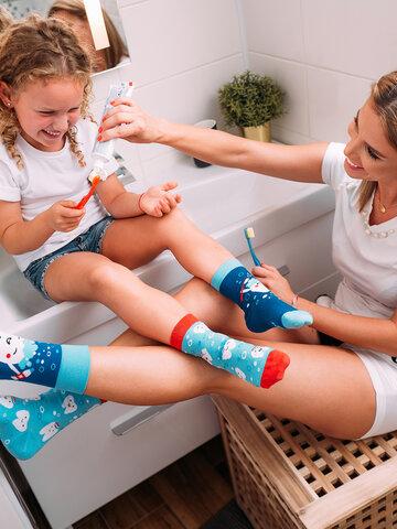 Wyprzedaż Wesołe skarpetki dziecięce Czyste zęby
