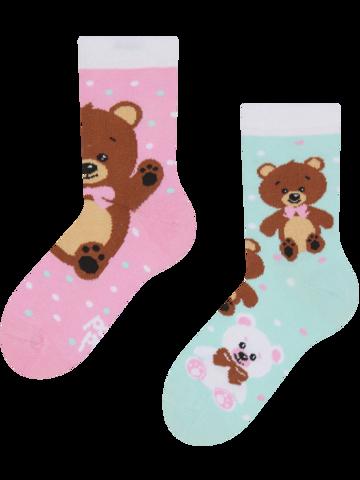 Zľava Živahne otroške nogavice Medvedki
