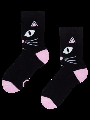 Zľava Živahne tople otroške nogavice Mačje oči
