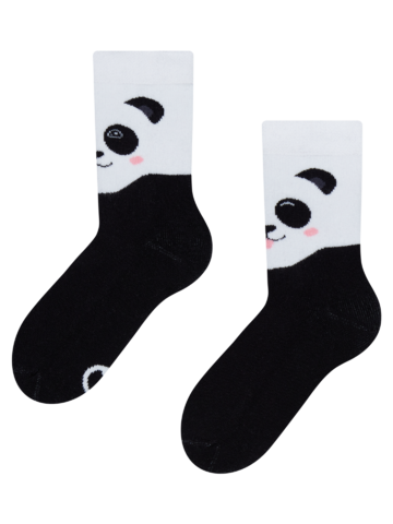 Lifestyle foto Весели топли детски чорапи Щастлива панда