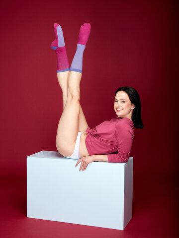 Výnimočný darček od Dedoles Fialovo-modré športové ponožky