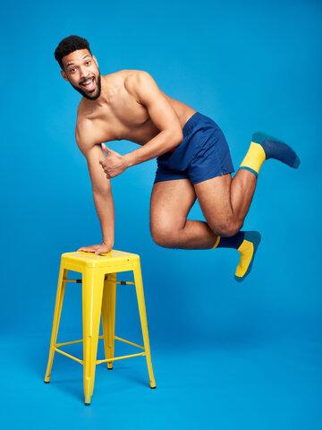 Obrázok produktu Plave i žute sportske čarape