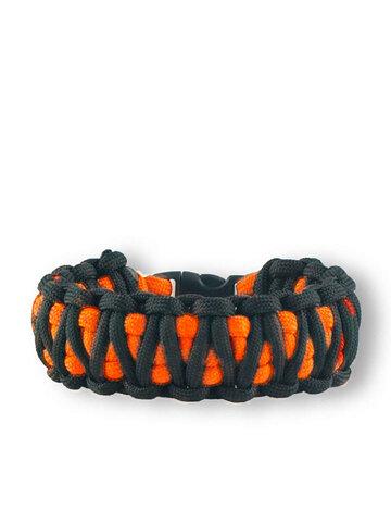 Ausverkauf Orange-schwarzes Paracord Armband King Cobra
