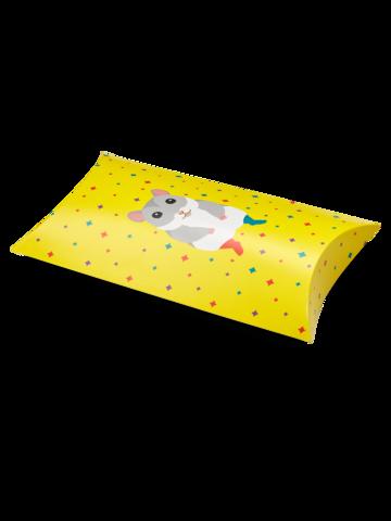 Hľadáte originálny a nezvyčajný darček? Obdarovaného zaručene prekvapí Oválna darčeková krabička Škrečok v ponožkách