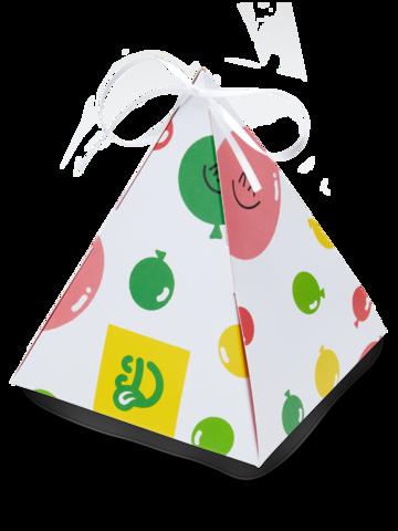 Suchen Sie ein originelles und außergewöhliches Geschenk? überrascht den Beschenkten sicher Pyramiden-Geschenkbox Party-Ballons