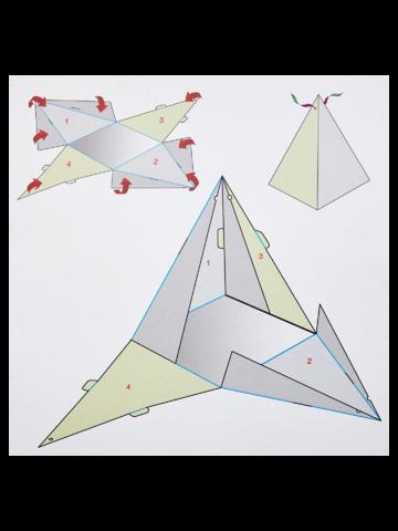 Potešte sa týmto kúskom Dedoles Pudełko na prezent w kształcie piramidy z zapachem magia świąt