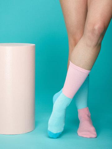 Výpredaj Ružovo-modré športové ponožky