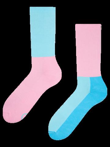 Výnimočný darček od Dedoles Ružovo-modré športové ponožky