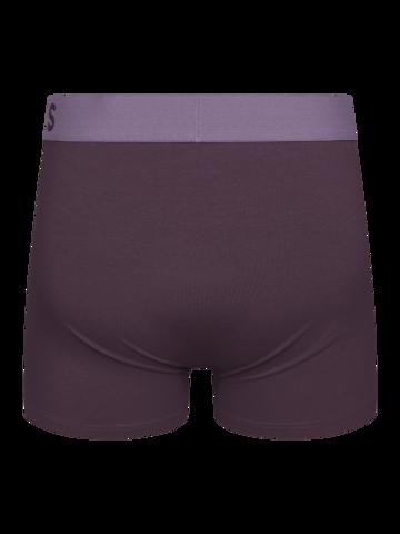 Lifestyle-Foto Pflaumenviolette Boxershorts für Männer