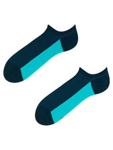 Wyprzedaż Granatowe skarpetki do sneakersów Pięta