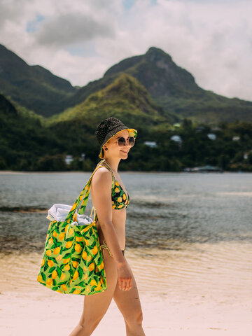 Výpredaj Veselá plážová taška Citróny