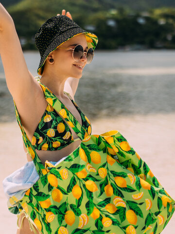 Zľava Veselá plážová taška Citróny