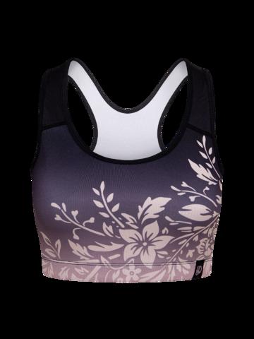 Pre dokonalý a originálny outfit Veselá športová podprsenka Ombré kvety