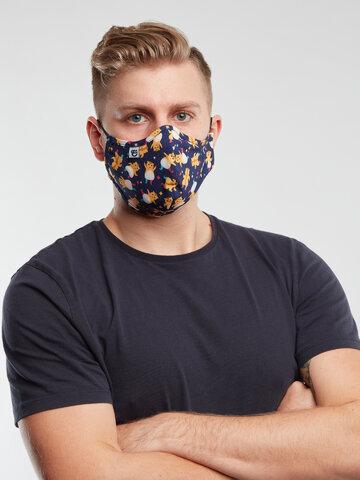 pro dokonalý a originální outfit Veselá antibakteriální rouška Párty křečci - větší