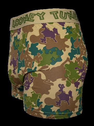 Hľadáte originálny a nezvyčajný darček? Obdarovaného zaručene prekvapí Veselé pánske boxerky Looney Tunes ™ Kamufláž