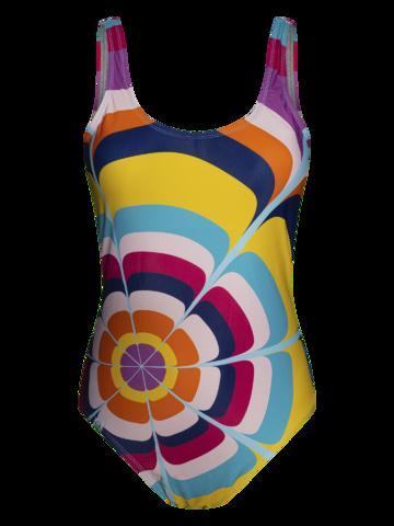 Suchen Sie ein originelles und außergewöhliches Geschenk? überrascht den Beschenkten sicher Lustiger einteiliger Badeanzug für Frauen Spritzende Kreise