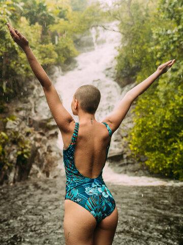 Lifestyle photo Women's One-piece Swimsuit Tropical Jungle