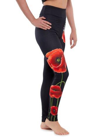 Tip na darček Vrolijke high-waisted leggings Klaproos