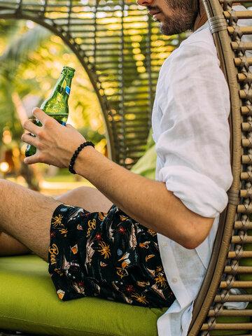 Tip na darček Živahne moške plavalne hlače Pivo na plaži