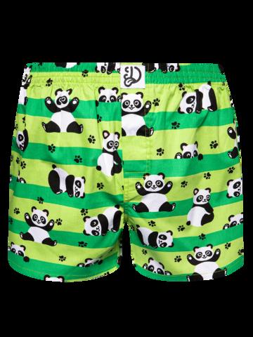 Lifestyle foto Vrolijke heren boxershorts Panda & strepen