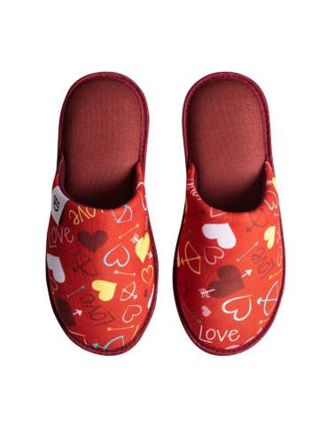 pentru outfit-ul perfect Papuci de Casă Veseli Inimi