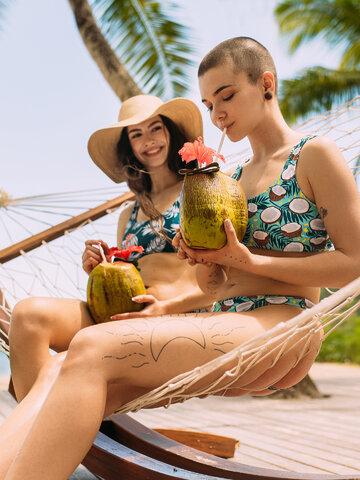 Zľava Vesele bikini gaćice Kokos