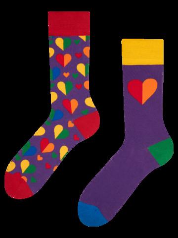 Ausverkauf Lustige Socken Regenbogenherzen