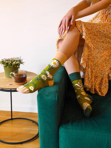 pentru outfit-ul perfect Șosete Vesele Ceai de Mușețel