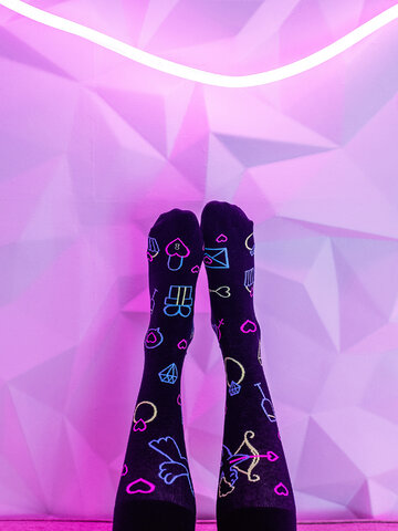 Pre dokonalý a originálny outfit Regular Socks Neon Love