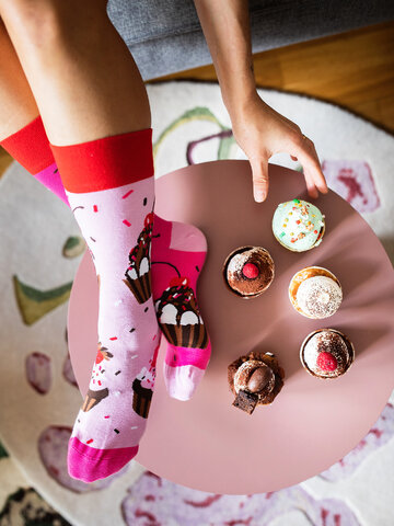 Tip na darček Vesele čarape Ružičasti kolačići