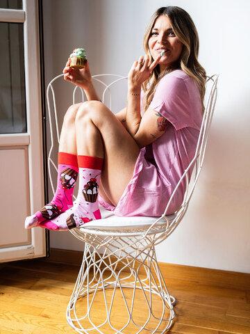 Obrázok produktu Vesele čarape Ružičasti kolačići