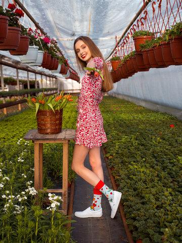 Obrázok produktu Veselé ponožky Tulipány