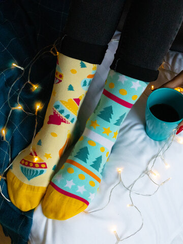 Pre dokonalý a originálny outfit Regular Socks Christmas Balls