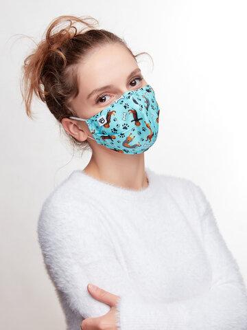 Suchen Sie ein originelles und außergewöhliches Geschenk? überrascht den Beschenkten sicher Lustige Gesichtsmaske Dackel