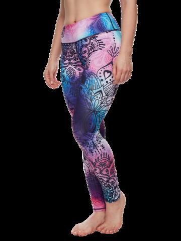 pentru outfit-ul perfect Colanți Sport Veseli Mandala Colorată