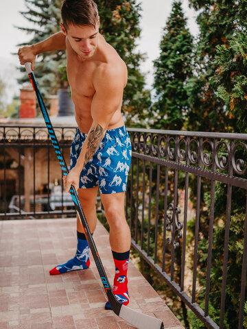 Geschenk von Dedoles Lustige Shorts für Männer Eishockey