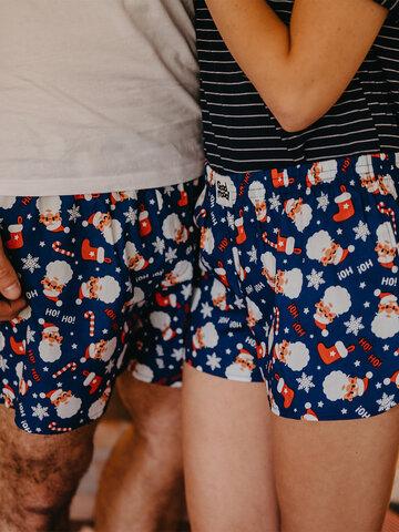 Suchen Sie ein originelles und außergewöhliches Geschenk? überrascht den Beschenkten sicher Lustige Shorts für Männer Weihnachtsmann